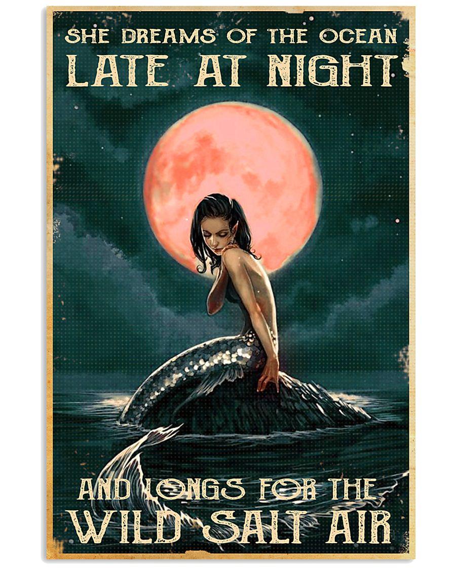 Mermaid At Night 11x17 Poster