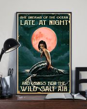 Mermaid At Night 11x17 Poster lifestyle-poster-2