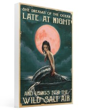 Mermaid At Night 16x24 Gallery Wrapped Canvas Prints thumbnail