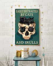 Easily Distracted By Cats And Skulls 11x17 Poster lifestyle-holiday-poster-3