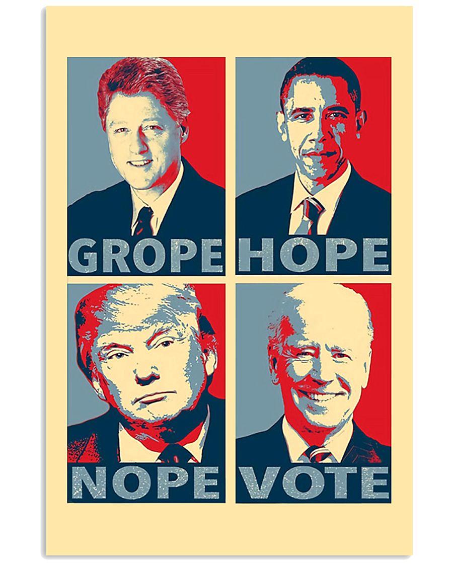 Grope Hope Nope Vote 11x17 Poster