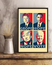 Grope Hope Nope Vote 11x17 Poster lifestyle-poster-3