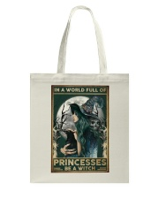 A Witch Not Princess Tote Bag thumbnail