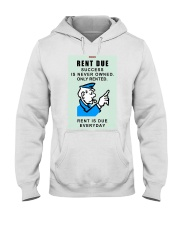 Monopoly Game Policeman RENT DUE Hooded Sweatshirt thumbnail