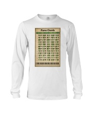 Piano Chord Chart Long Sleeve Tee thumbnail