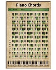 Piano Chord Chart 11x17 Poster front