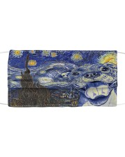 Pitbull Starry Night Cloth face mask front