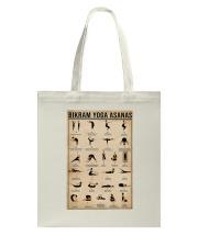 Bikram yoga asanas Tote Bag thumbnail