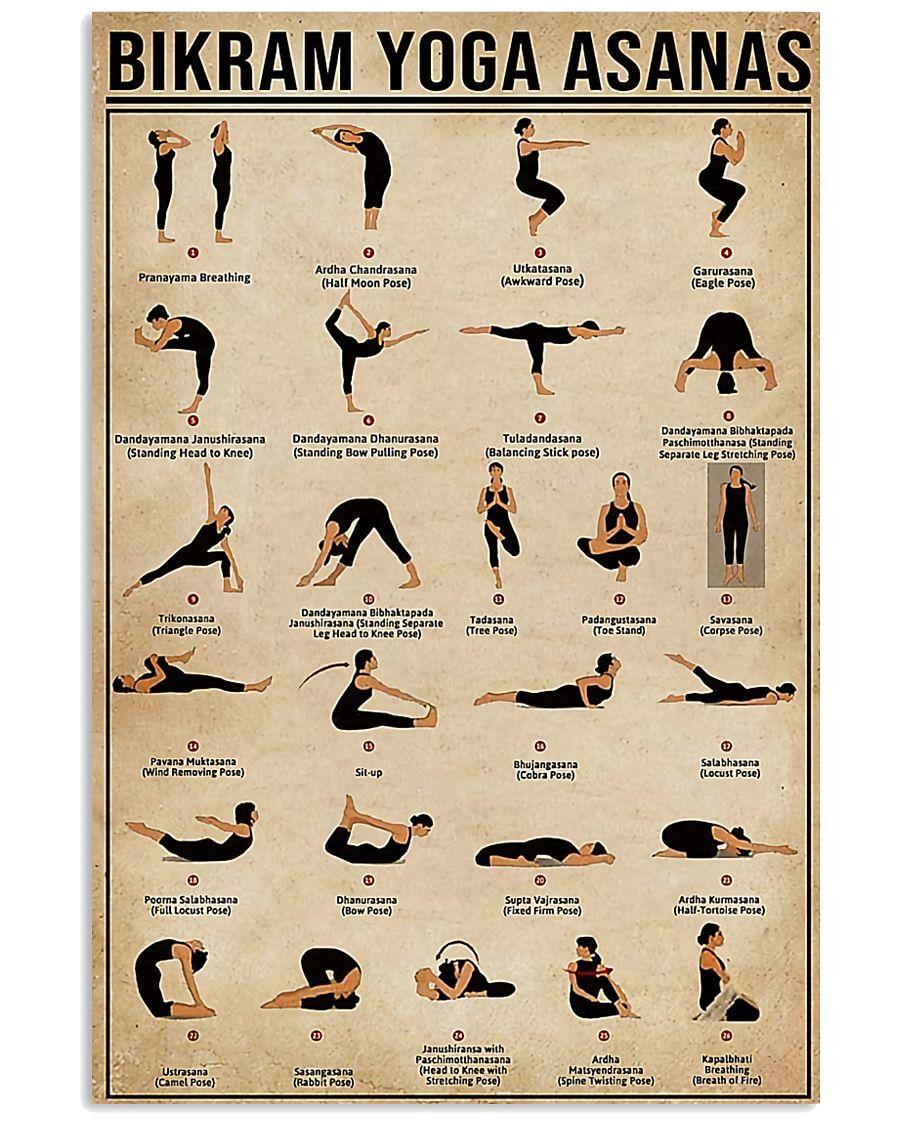 Bikram yoga asanas 11x17 Poster