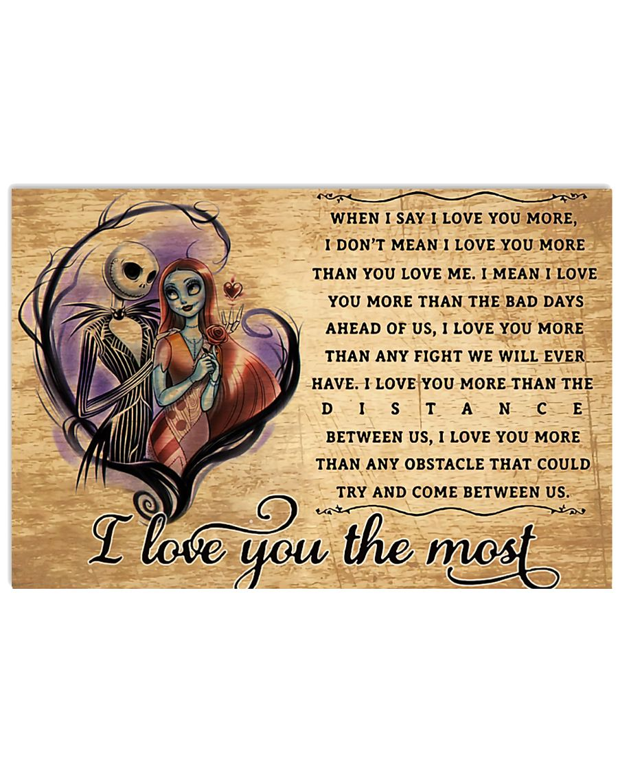 I Love You 17x11 Poster