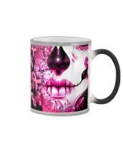 Sugar Skull Breast Cancer Color Changing Mug thumbnail