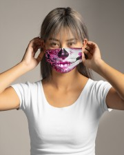 Sugar Skull Breast Cancer Cloth face mask aos-face-mask-lifestyle-16