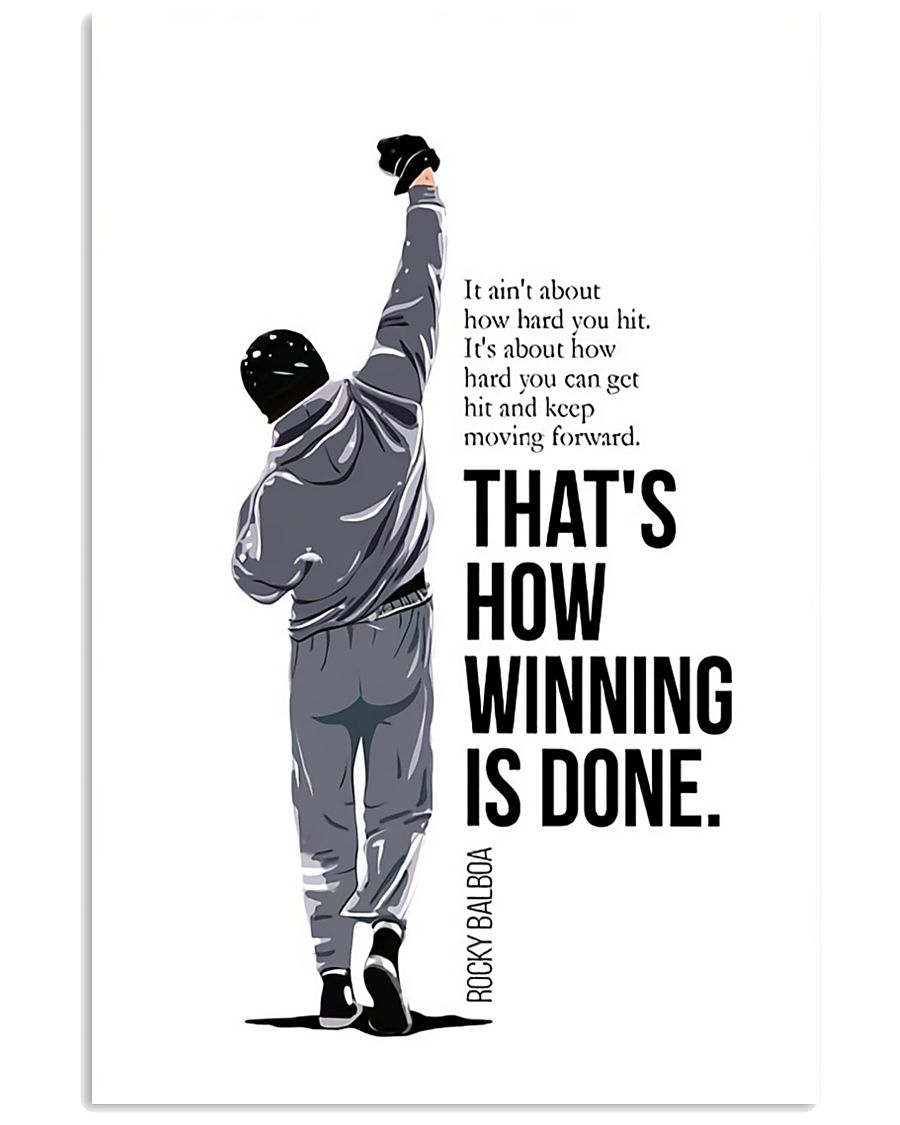 Winning Is Done 16x24 Poster