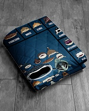 """Sharks Infographic Quilt 60""""x70"""" - Twin aos-quilt-60x70-lifestyle-closeup-front-06"""