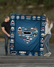 """Sharks Infographic Quilt 60""""x70"""" - Twin aos-quilt-60x70-lifestyle-front-01"""