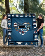 """Sharks Infographic Quilt 60""""x70"""" - Twin aos-quilt-60x70-lifestyle-front-03"""