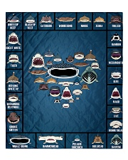 """Sharks Infographic Quilt 60""""x70"""" - Twin front"""