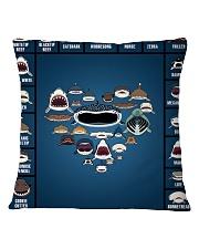 Sharks Infographic Square Pillowcase thumbnail