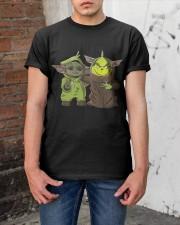 Yoda and Grinch Classic T-Shirt apparel-classic-tshirt-lifestyle-31