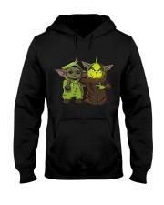 Yoda and Grinch Hooded Sweatshirt thumbnail