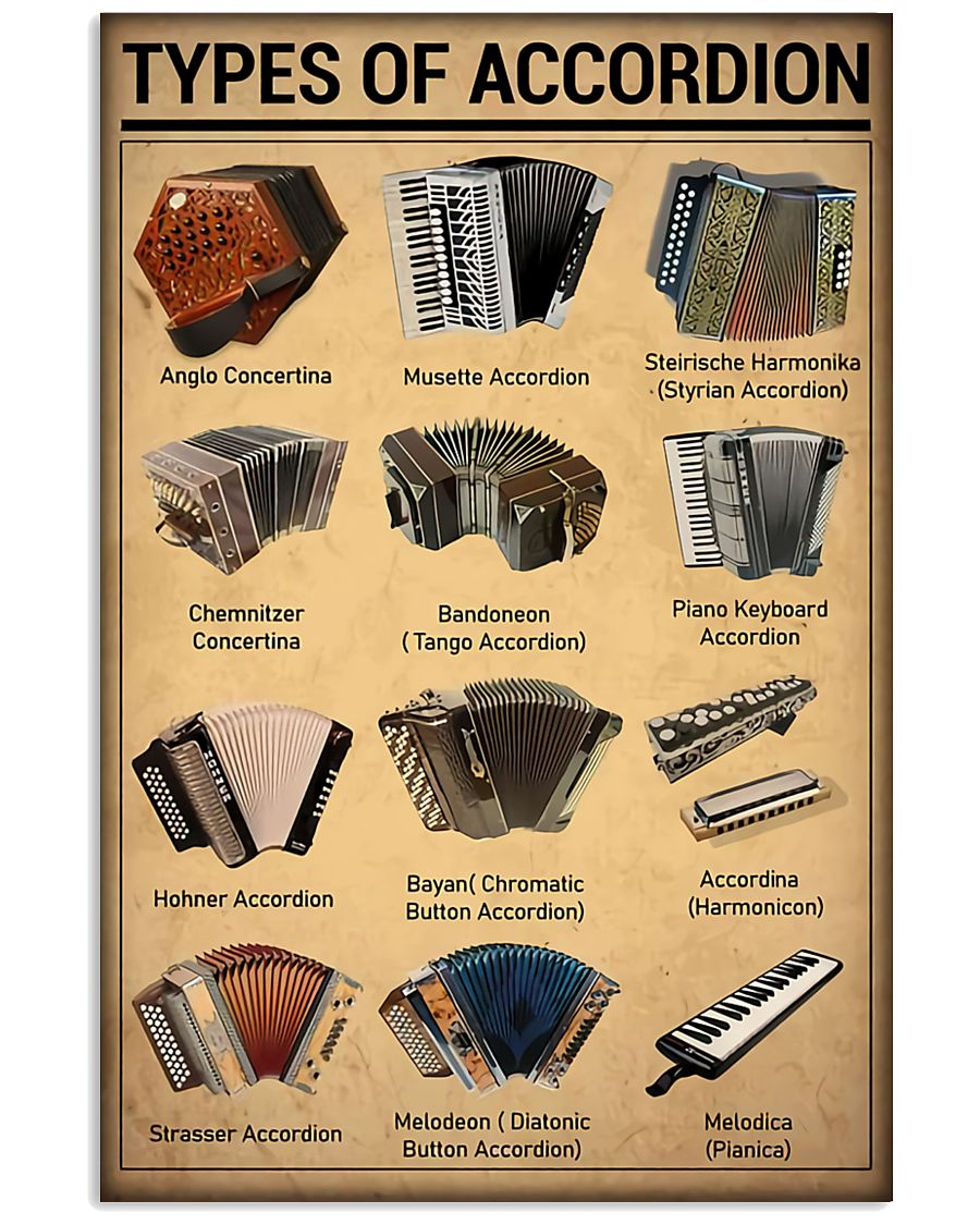 Musical Keyboard Instrument Types Of Accordion 11x17 Poster