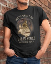 I Read Books And I Know Things Classic T-Shirt apparel-classic-tshirt-lifestyle-26