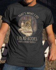 I Read Books And I Know Things Classic T-Shirt apparel-classic-tshirt-lifestyle-28