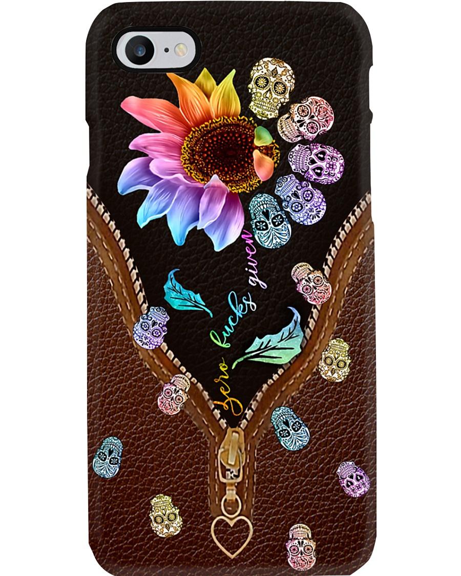 Rainbow Leather Sugar Skull Phone Case