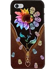 Rainbow Leather Sugar Skull Phone Case i-phone-8-case