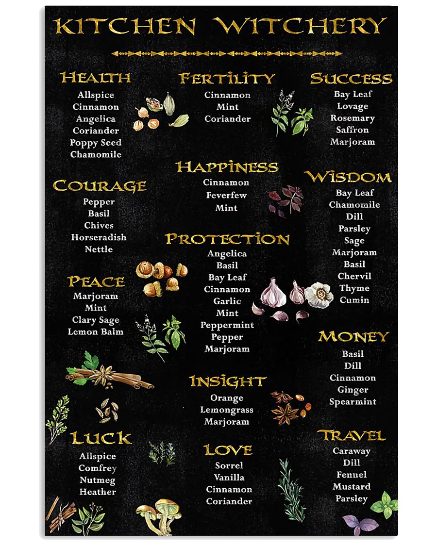 Kitchen Witchy Poster 11x17 Poster