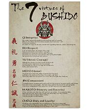 The 7 Virtues Of Bushido 11x17 Poster front