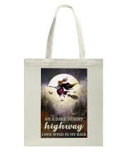Witch Riding Broom Tote Bag thumbnail
