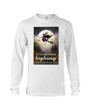 Witch Riding Broom Long Sleeve Tee thumbnail