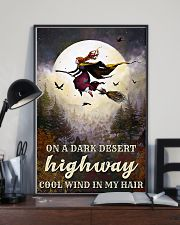 Witch Riding Broom 11x17 Poster lifestyle-poster-2
