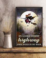 Witch Riding Broom 11x17 Poster lifestyle-poster-3