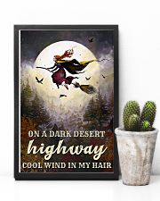 Witch Riding Broom 11x17 Poster lifestyle-poster-8