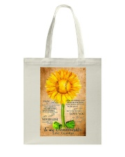 Sunflower To My Granddaughter Tote Bag thumbnail