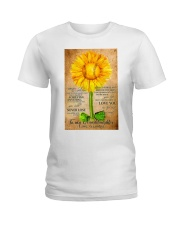 Sunflower To My Granddaughter Ladies T-Shirt thumbnail