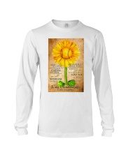 Sunflower To My Granddaughter Long Sleeve Tee thumbnail