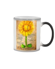 Sunflower To My Granddaughter Color Changing Mug thumbnail