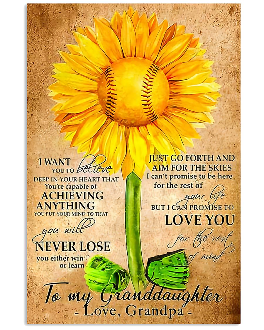 Sunflower To My Granddaughter 11x17 Poster