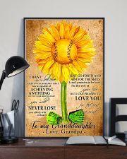 Sunflower To My Granddaughter 11x17 Poster lifestyle-poster-2