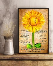Sunflower To My Granddaughter 11x17 Poster lifestyle-poster-3