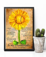 Sunflower To My Granddaughter 11x17 Poster lifestyle-poster-8