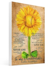 Sunflower To My Granddaughter 16x24 Gallery Wrapped Canvas Prints thumbnail