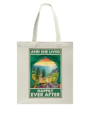 Camping and Golden Retriever Dog Lovers Tote Bag thumbnail