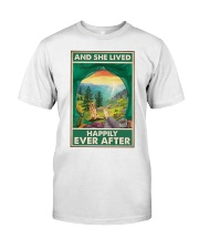 Camping and Golden Retriever Dog Lovers Classic T-Shirt thumbnail