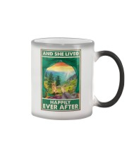 Camping and Golden Retriever Dog Lovers Color Changing Mug thumbnail