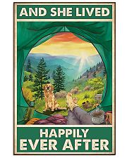 Camping and Golden Retriever Dog Lovers 11x17 Poster front