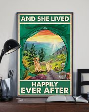 Camping and Golden Retriever Dog Lovers 11x17 Poster lifestyle-poster-2